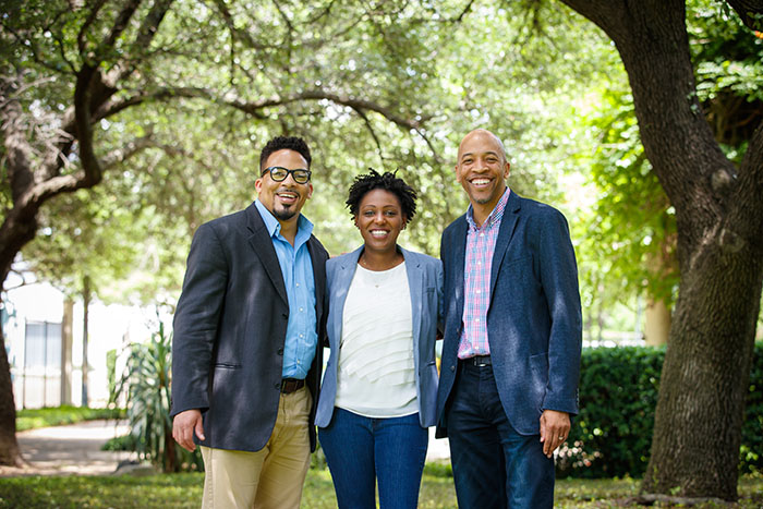 Generation Dallas founding team members Joshua Boyce, Demetra Brown, and Lou Jones